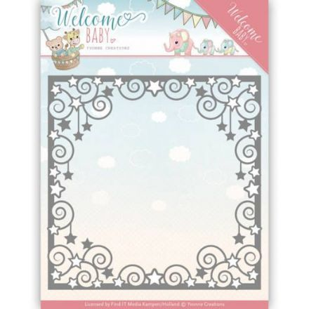 YCD10135 ~ Star Frame ~ Welcome Baby ~ Yvonne Creations